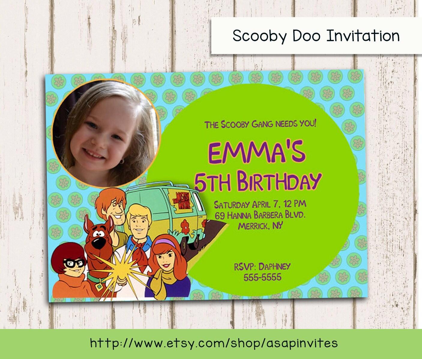Scooby Doo Invitation Scooby Birthday Invitation Birthday