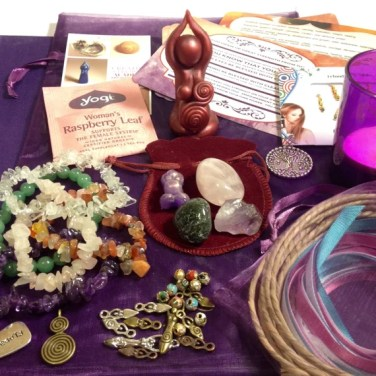 Mother Blessing Complete Facilitator's Kit (complete ceremony guide & resource lot: birth goddess sculpture, tree of life pendant, and more)