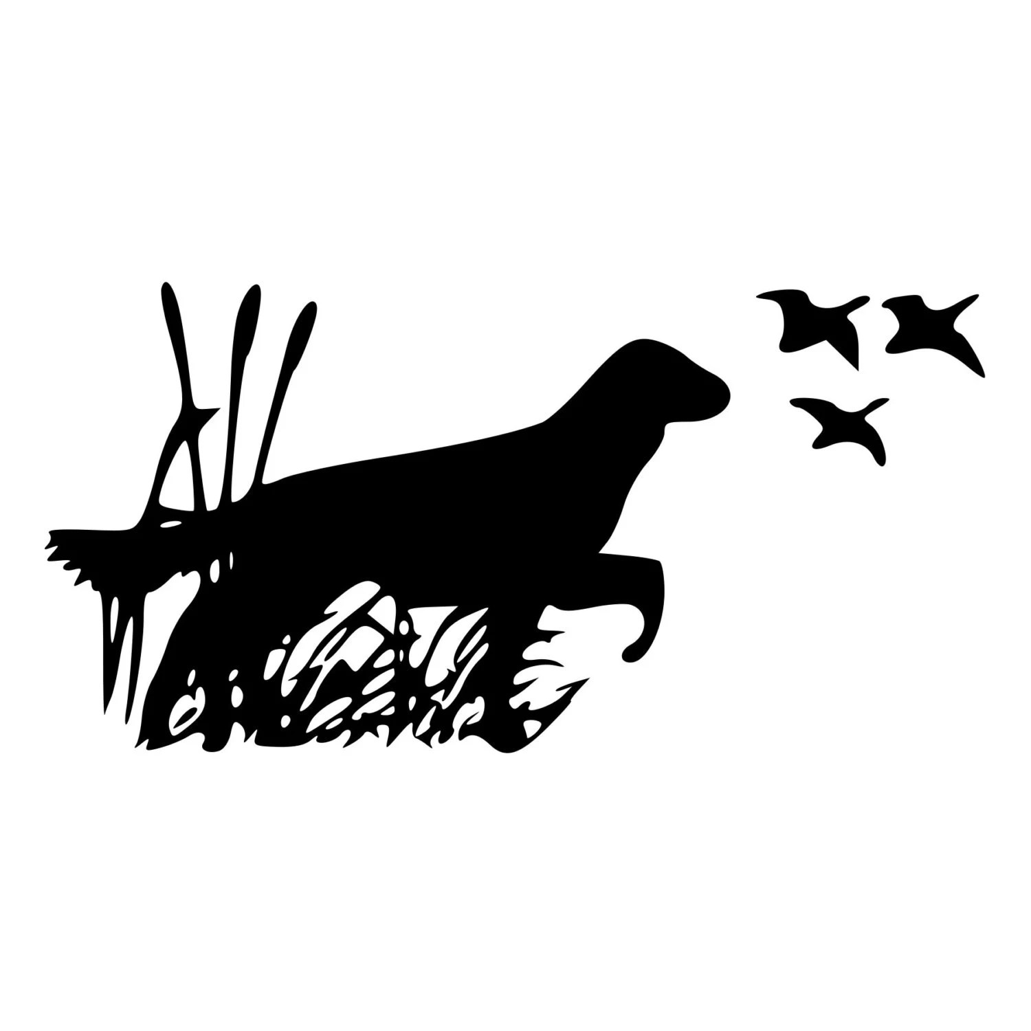 Dog Bird Hunting Cut Decal Car Window Wall Bumper Phone