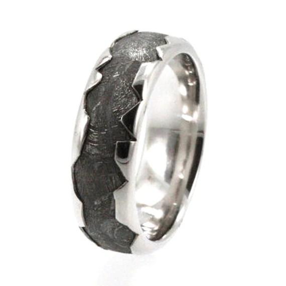 Cool Meteorite Platinum Ring Platinum Wedding By