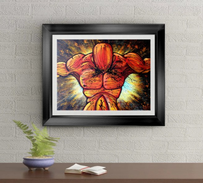 Unstoppable Signed Art Print of Original Sold Painting By Rafi Perez