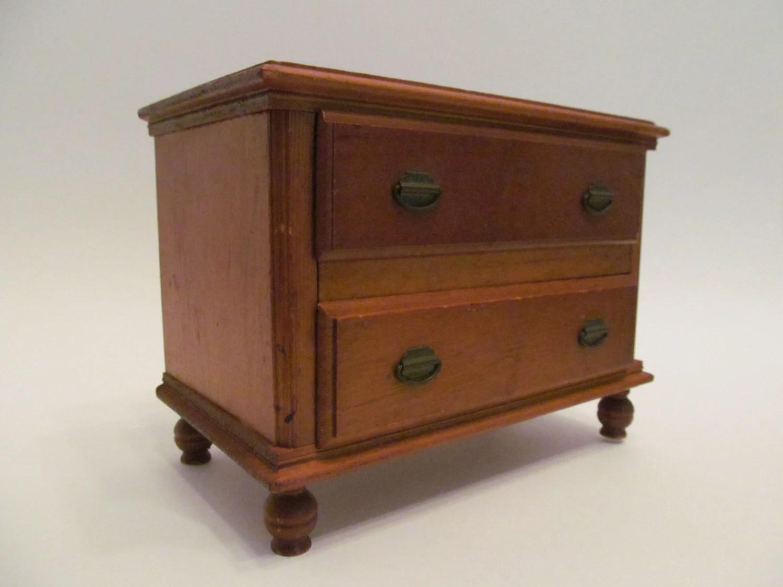 1950 S Wood Furniture ~ Vintage s keystone wooden dollhouse dresser chest
