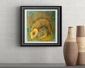 Sunshine Fish Signed Art Print of Signature Original By Rafi Perez