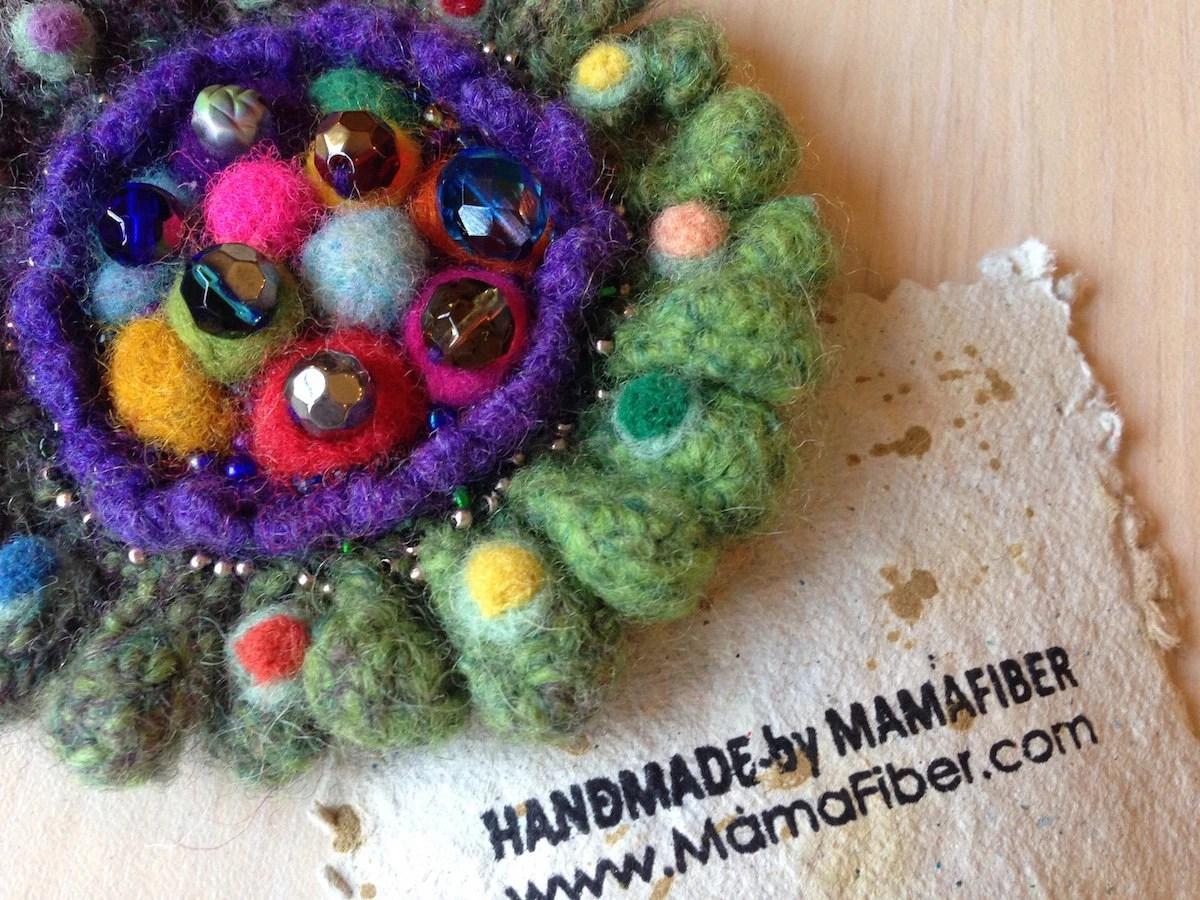 Sparkling Beads Woollen F...