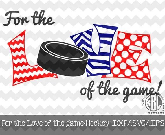 Download Items similar to Hockey- For the Love of the Game Decal ...