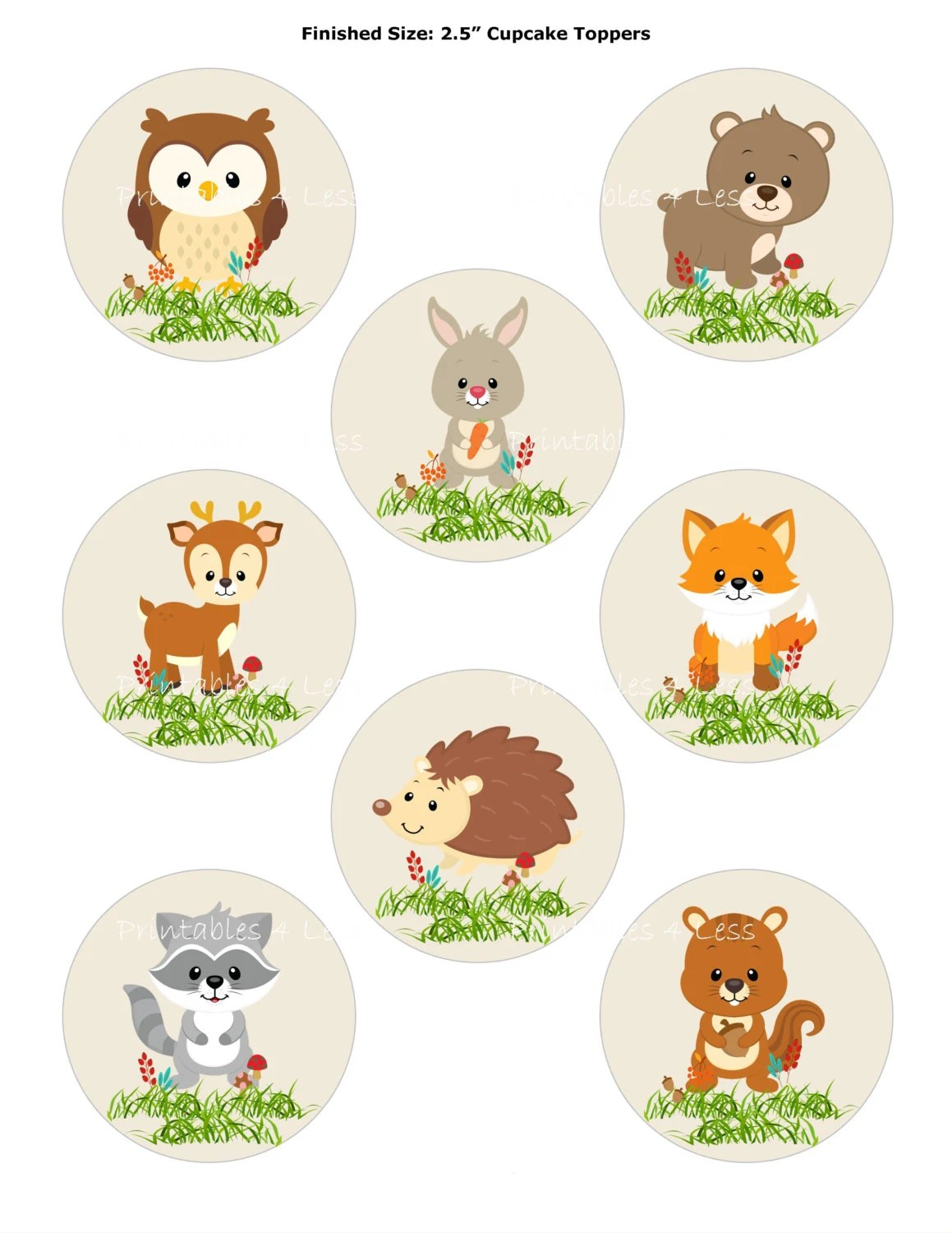 Printable Pictures Of Woodland Forest Animals