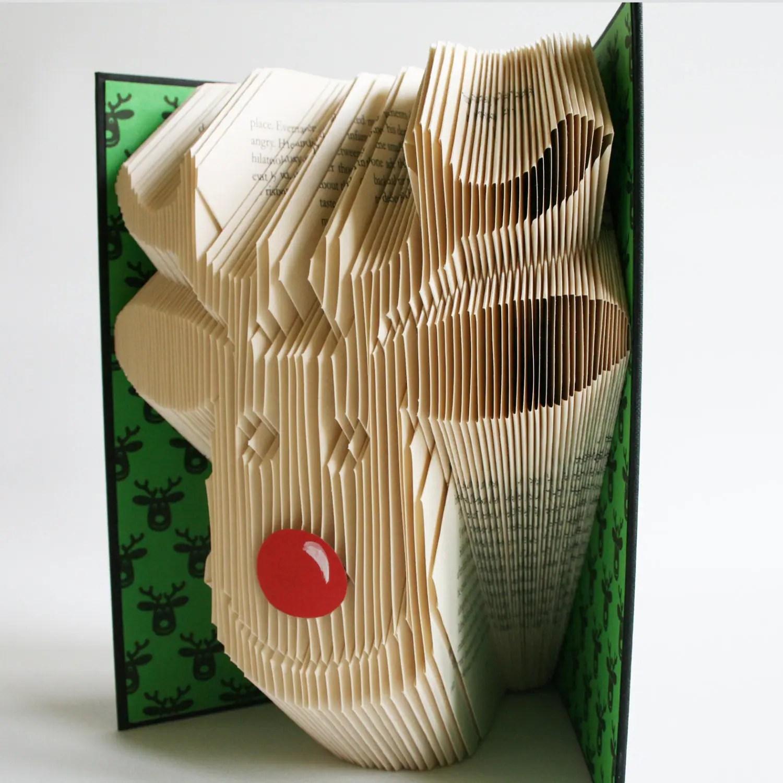 Rudolph Reindeer Book Folding Pattern Plus Free Printable