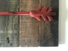 "Reclaimed wood ""ARROW"" wall art (RED). Free Shipping. Handmade 