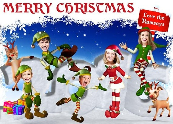 Funny Family Christmas Card Family Photo Christmas Card
