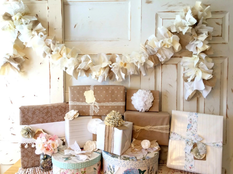 Burlap Wedding Decoration. Burlap And Lace Wedding Banner