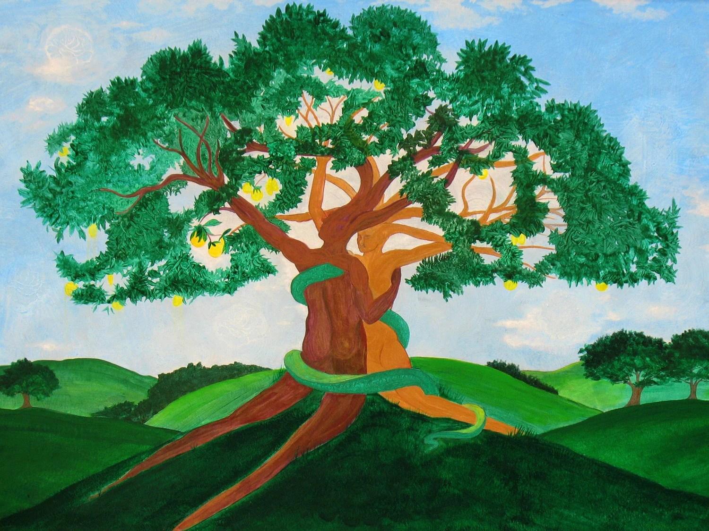 Genesis Print Garden Of Eden Adam Amp Eve Tree Of Knowledge