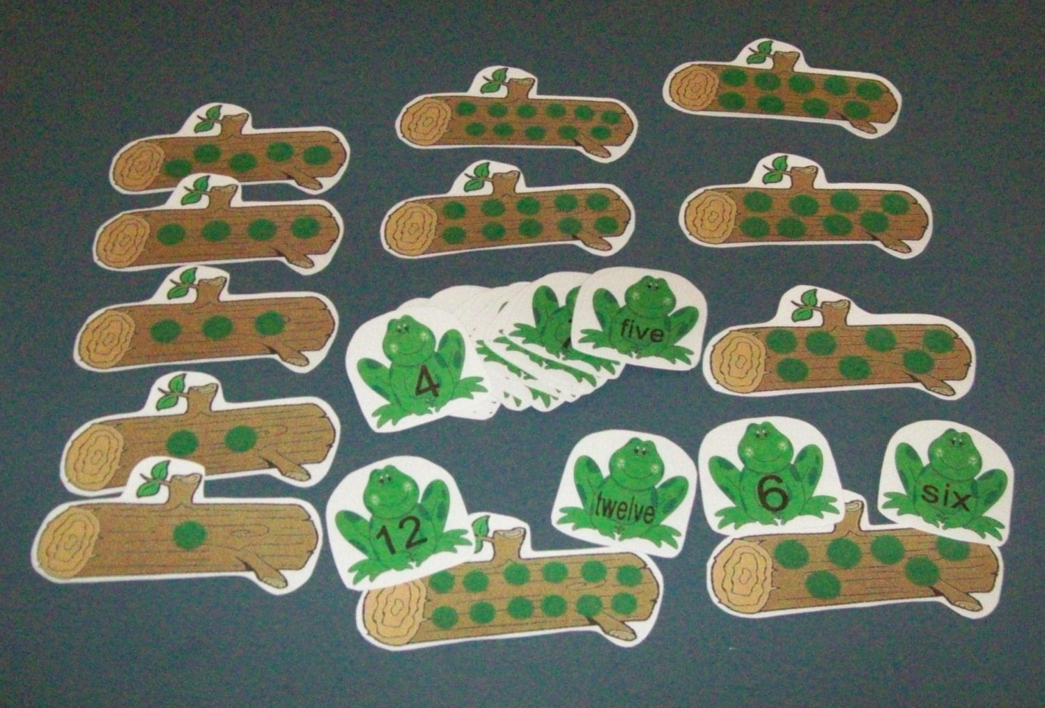 Frogs Counting Numbers Matching Game Math Center Kindergarten