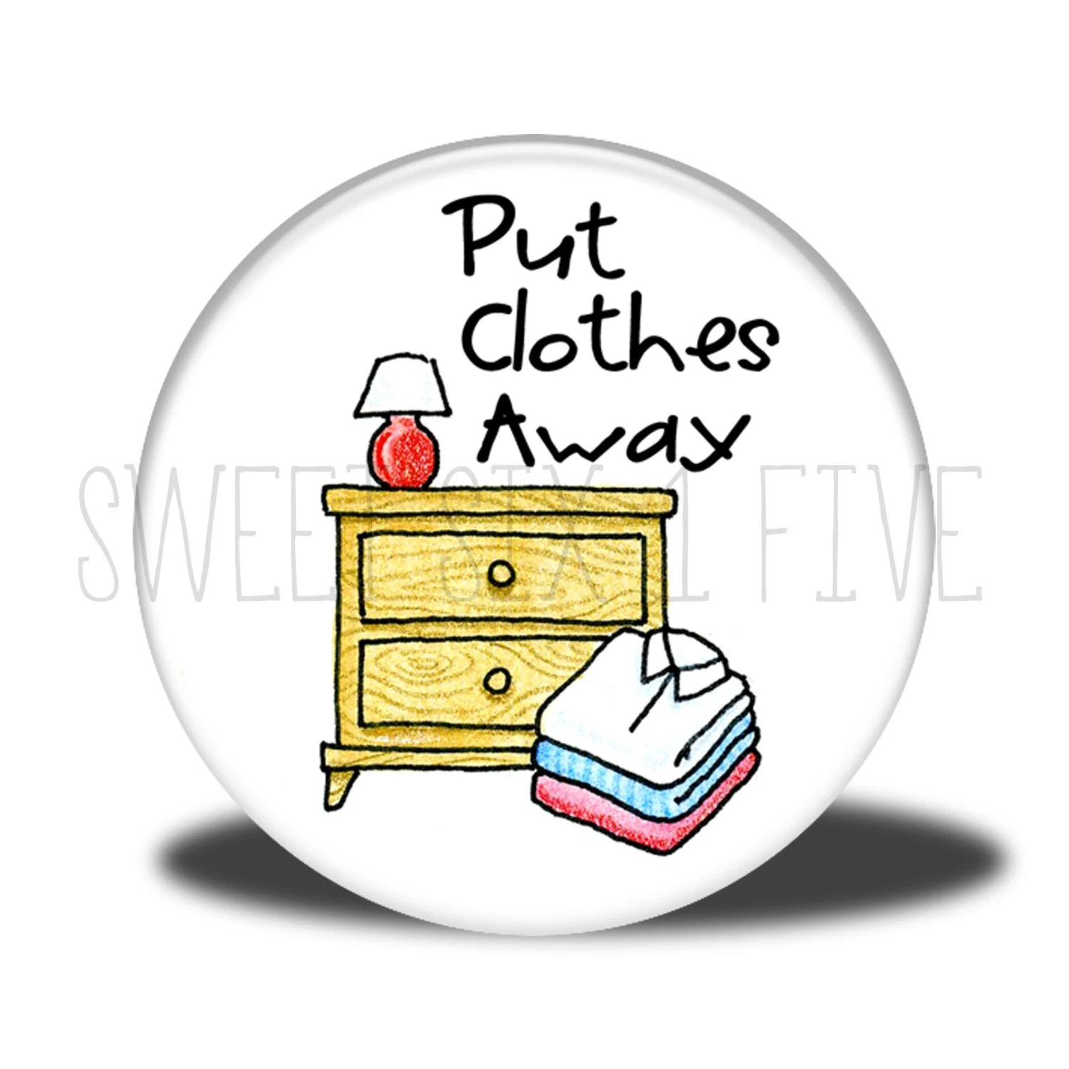 Put Clothes Away Chore Magnet