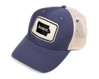 Iowa Home State Apparel Hat: Ouray Soft Mesh Cap in Indigo