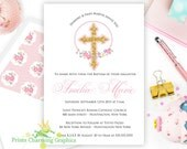 Sweet Floral Baby Invitat...