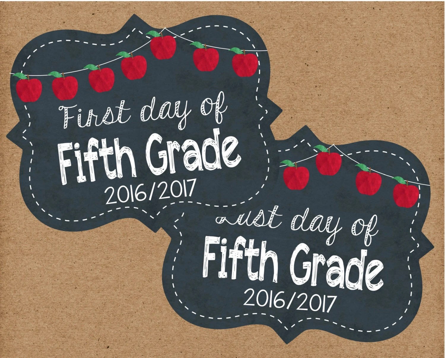Fifth Grade First Day Of School Sign Firsy Day Back To School