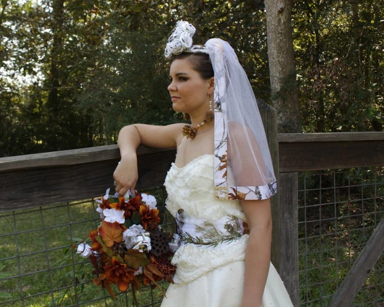 Praiseworthy Camo Wedding Accessories Wedding Veils