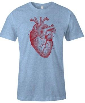 Human Heart T Shirt Heart Anatomy Diagram TShirt Item