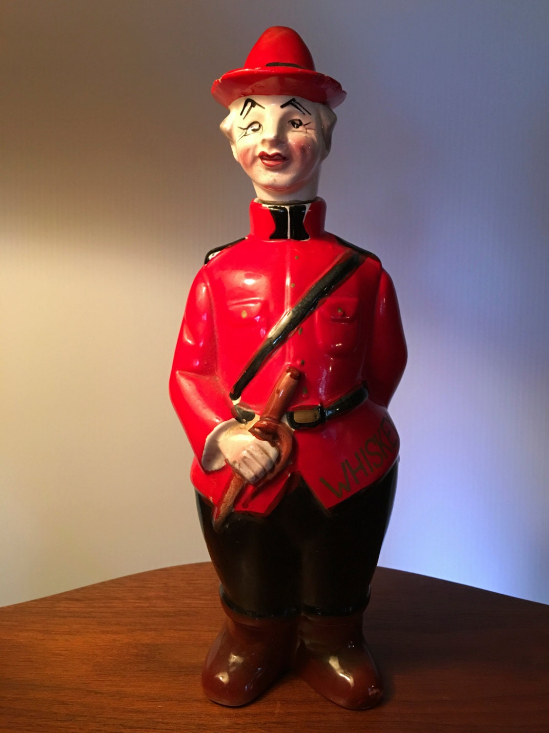 Vintage Royal Canadian Mounted Police Whiskey Decanter Made In