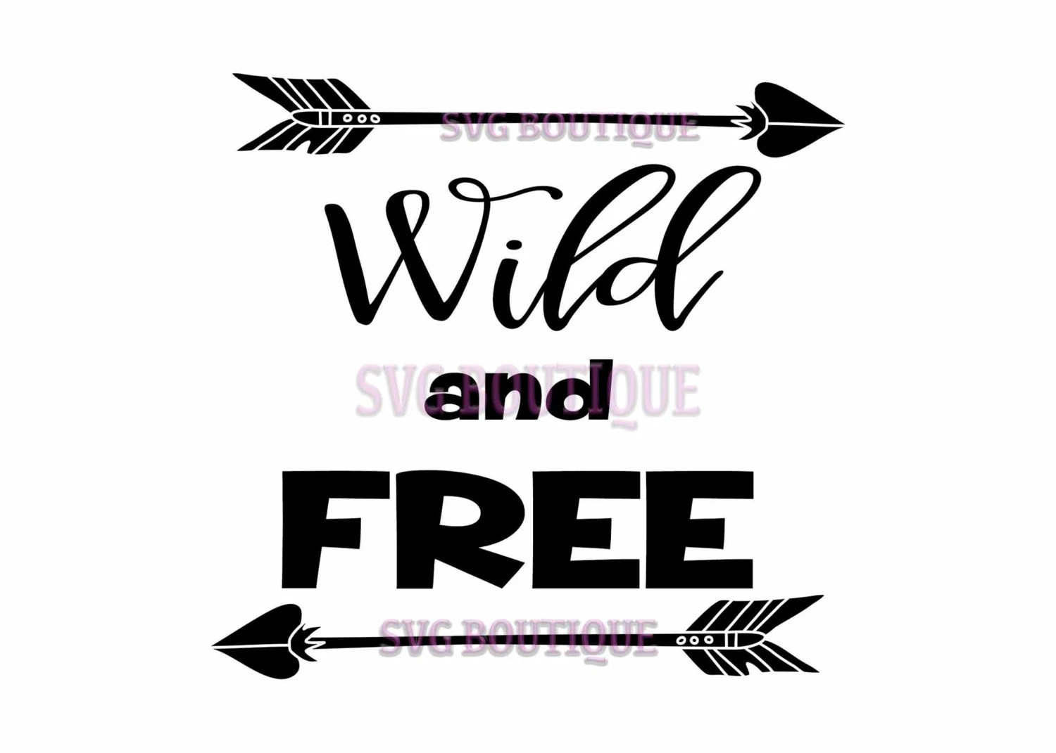 Wild And Free Svg File Arrows Toddler Tribal Clip Art