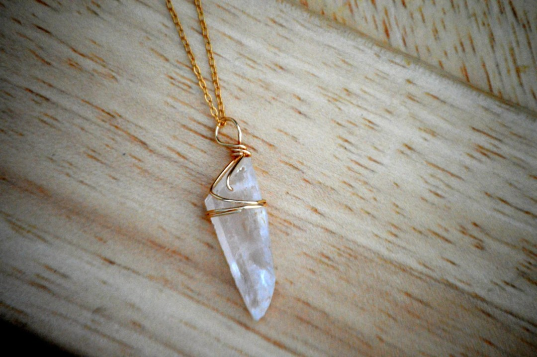 quartz 30 inch necklace, 14 karat gold filled, long layering necklace, bridesmaid gift, bridesmaid necklaces