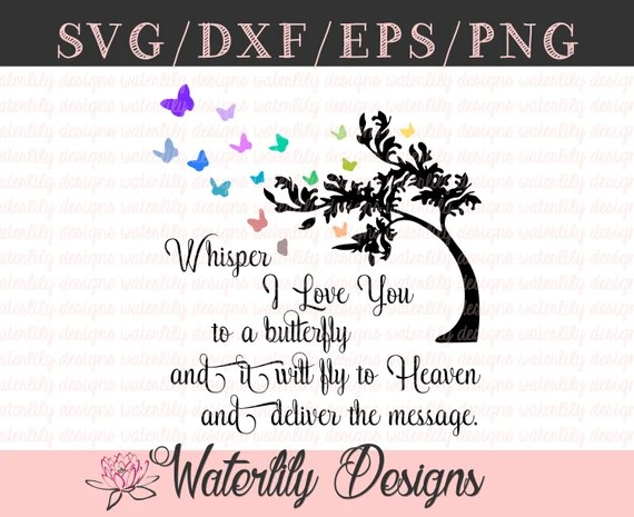 Download The Butterfly Tree SVG Cut File Instant Download Whisper