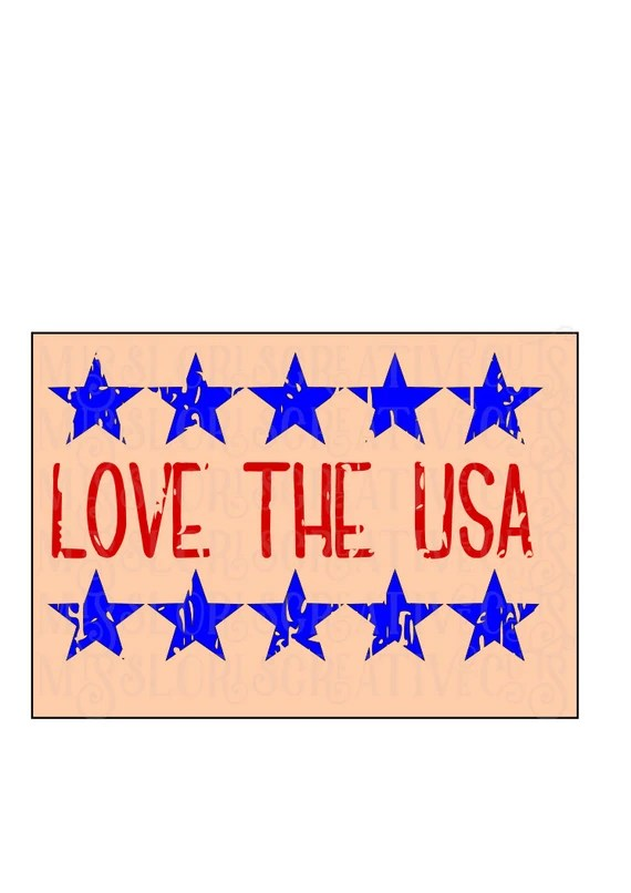 Download Love the USA Distressed stars. Patriotic 4th of July 3 SVG ...
