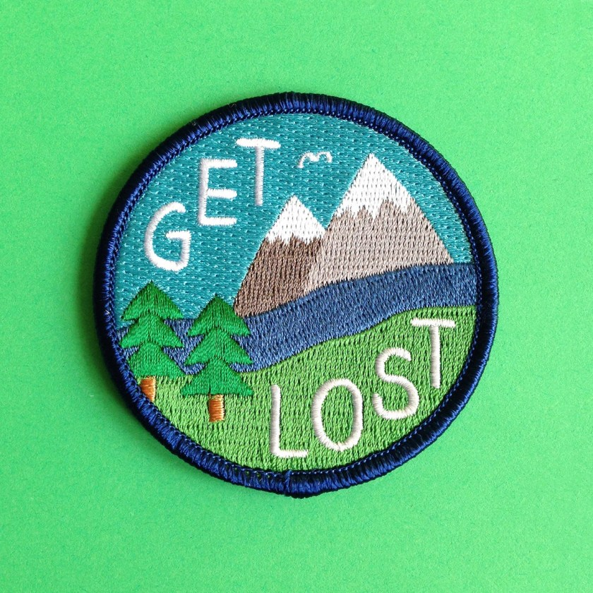 Get Lost Embroidered Patch, Funny Iron On Patch, Explore Patch, Mountain Patch, Hiking Patch, Nature Patch, Country Patch, Adven