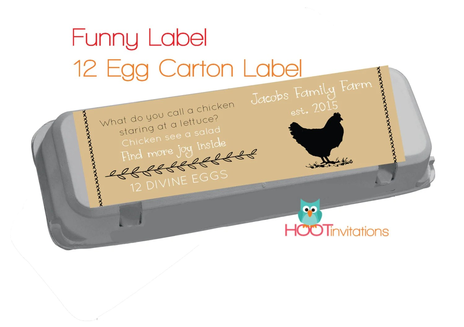 Funny Egg Carton Labels To Print At Home One Dozen 12 Egg