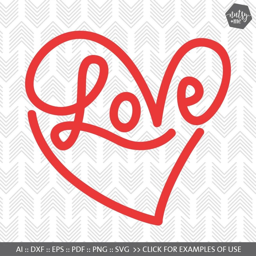 Download Love SVG - Infinity Love Heart Valentine SVG - Silhouette ...