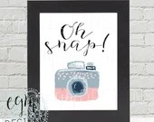 Oh Snap Digital Print, Pi...