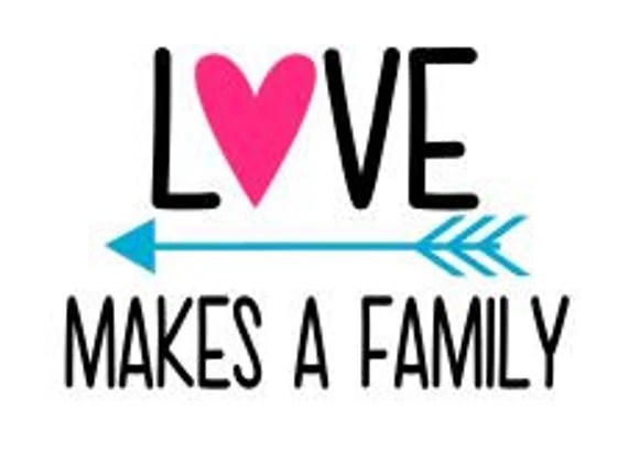 Love Makes a Family SVG DXF PS Ai and Pdf Digital Cutting