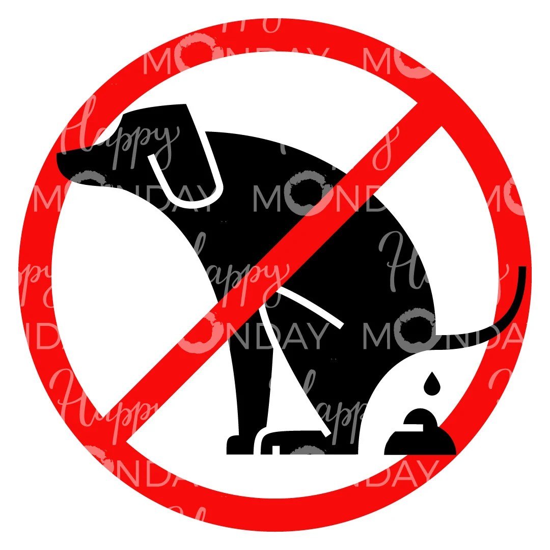No Dog Pooping Sign Clipart Printable Svg
