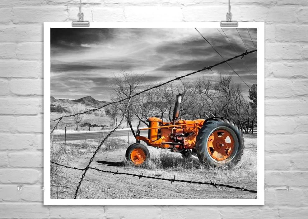 Red Tractor Farm Country Art Rural Art Rustic Art Nogales