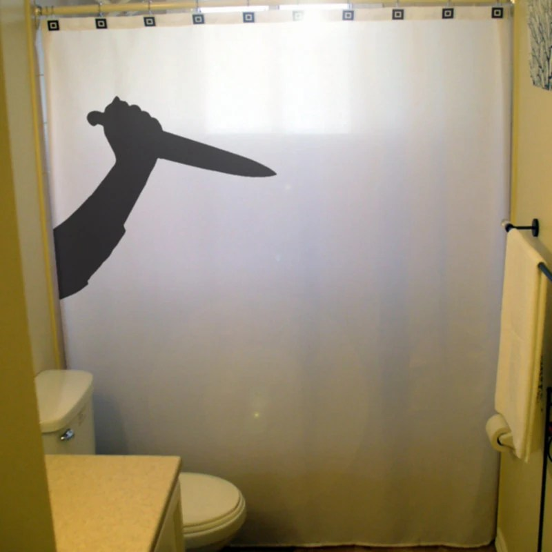 Psycho Knife Killer Halloween Shower By CustomShowerCurtains