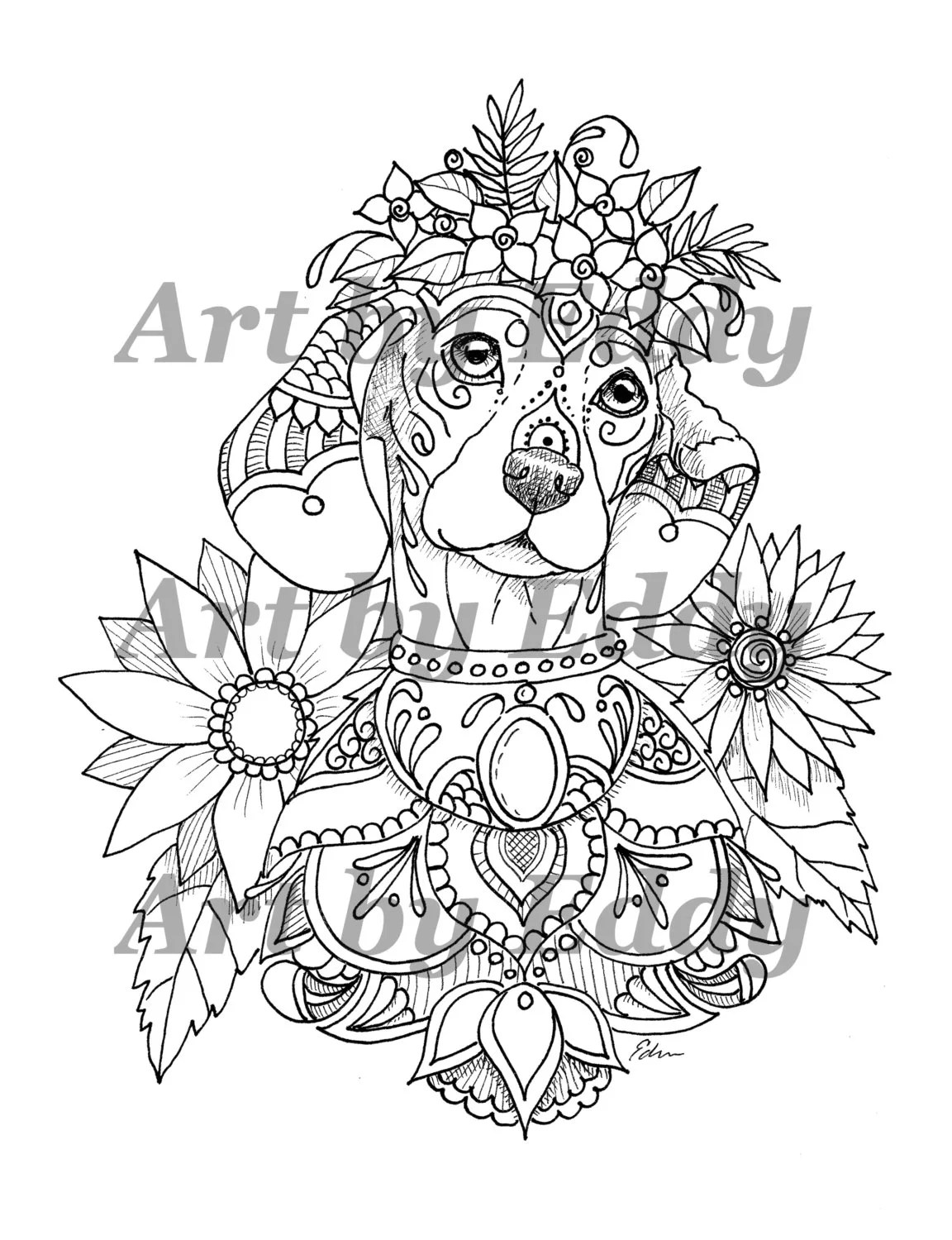 art of dachshund coloring book volume no 1 physical by artbyeddy