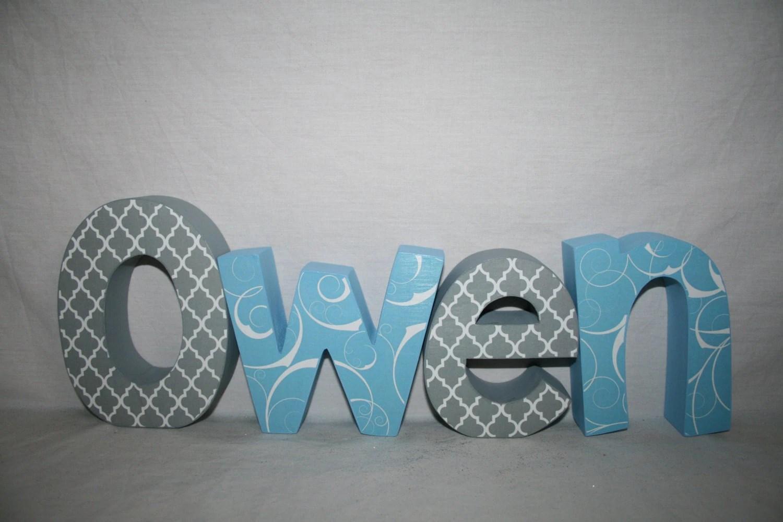 Wooden Letters For Nursery Nursery Letters 4 Letter Set