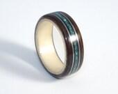 Ebony & Maple Wood Ring w...