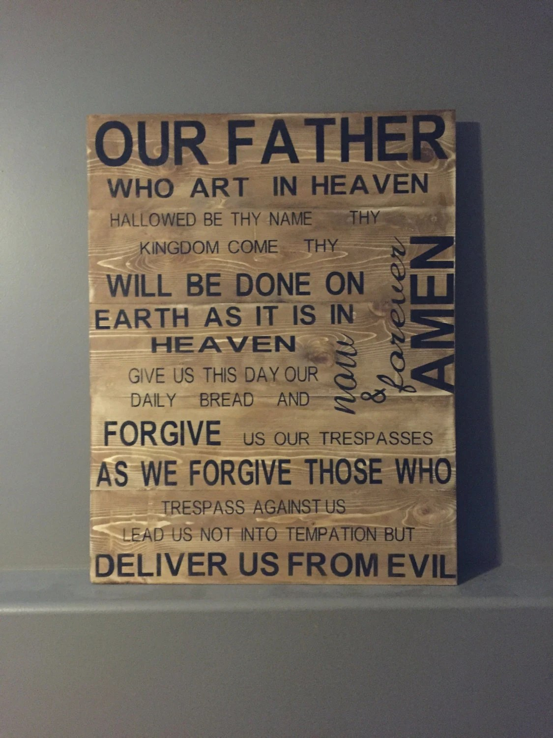 Lords Prayer Our Father Lords Prayer Sign Our Father
