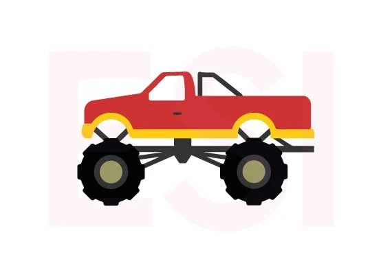 Download Monster Truck SVG DXF EPS cutting files use with Silhouette