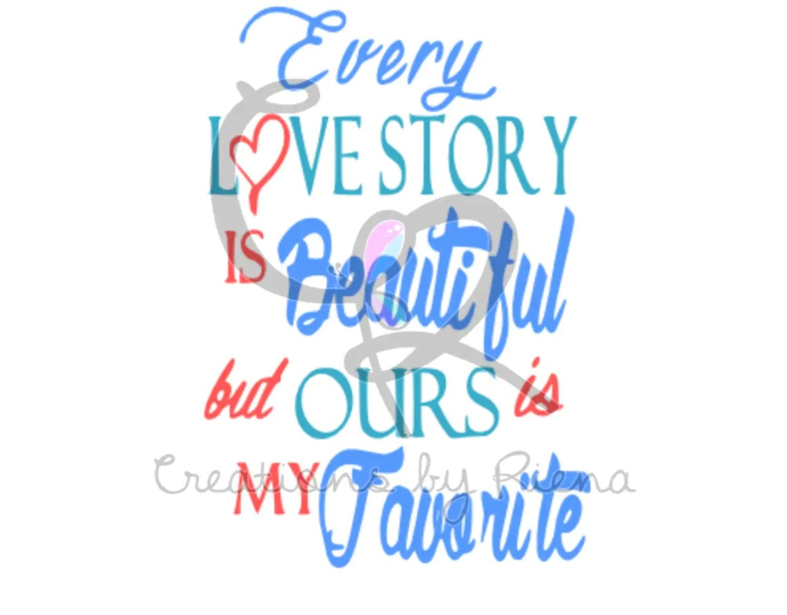 Our Love Story Svg File by CreationsbyRienaShop on Etsy