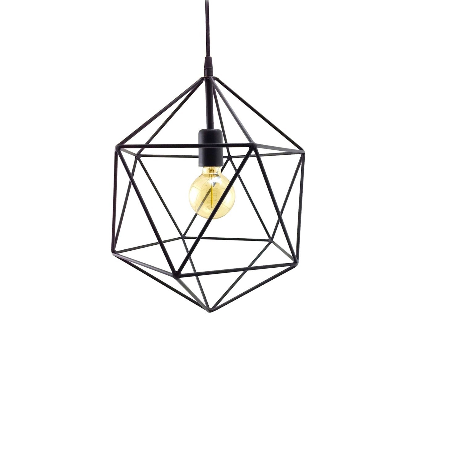 Geometric Pendant Light Handmade Hanging Light By