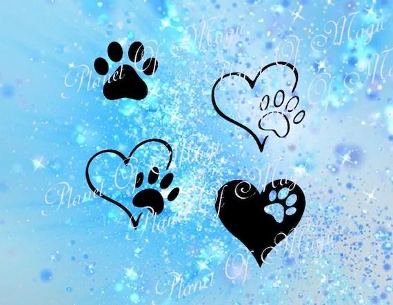 Download Paw Svg Pet Love Svg Cutting File Pet DXF Animal Love SVG