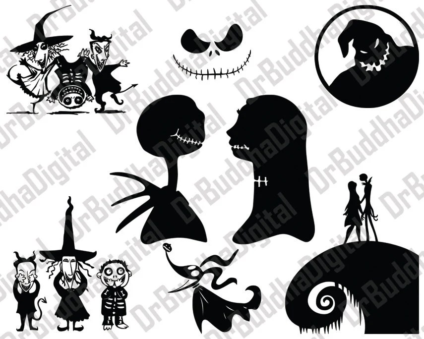 Download Sale Nightmare Before Christmas SVG Collection Nightmare