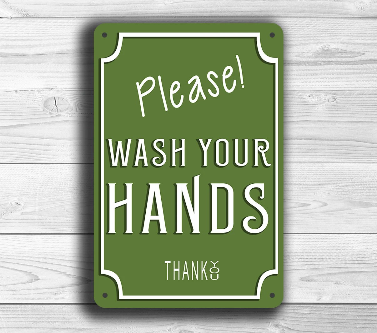 Wash Your Hands Sign Please Wash Your Hands Sign Classic