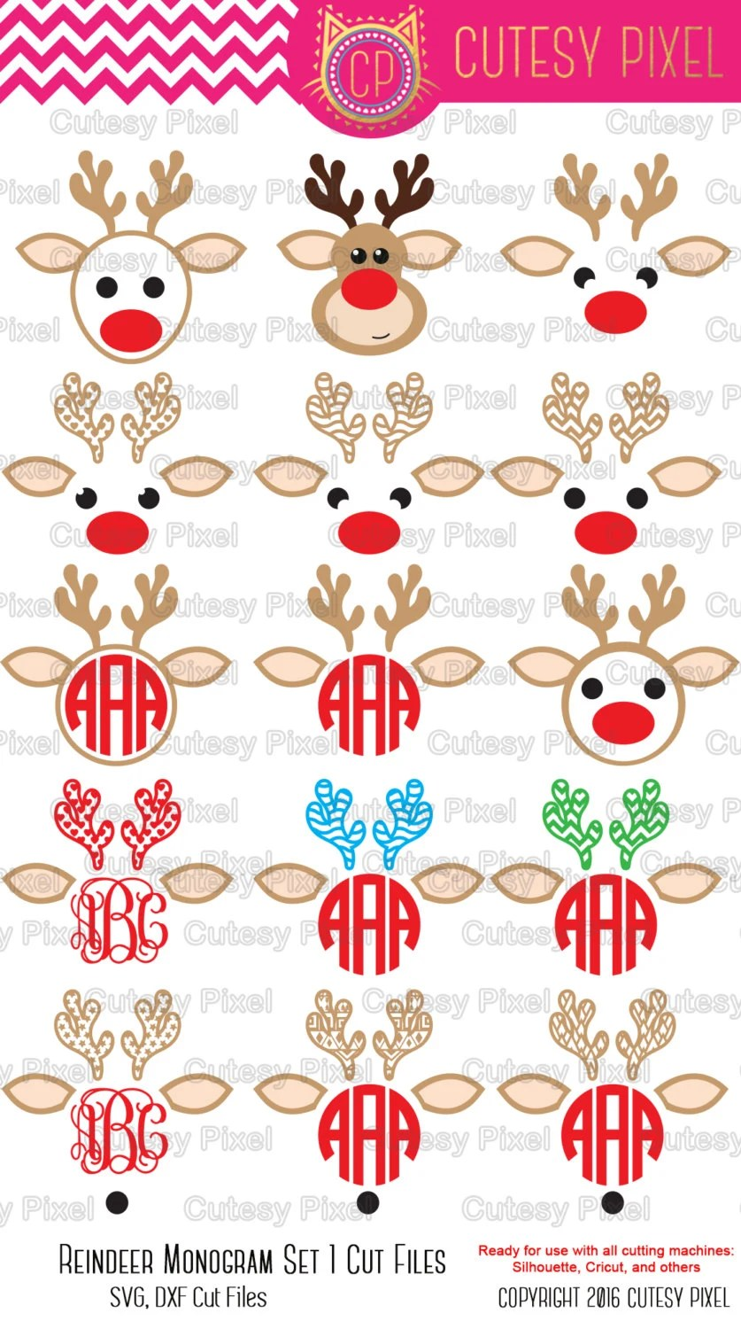 Download Reindeer cricut projects Svg cutting file svg by CutesyPixel