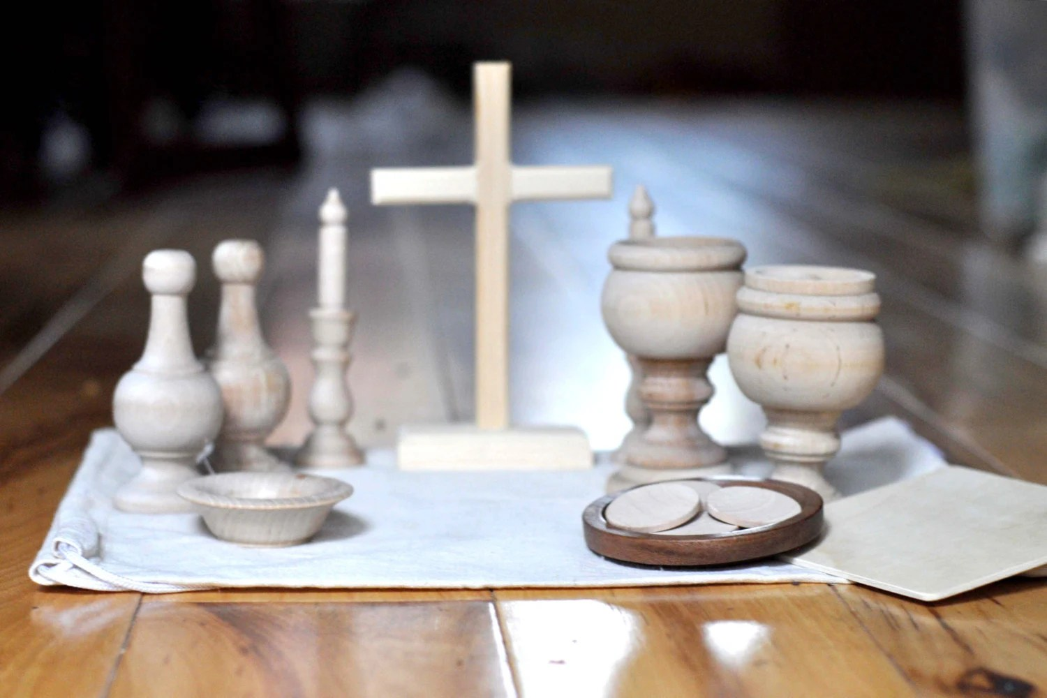 Diy Wooden Catholic Mass Kit Pieces