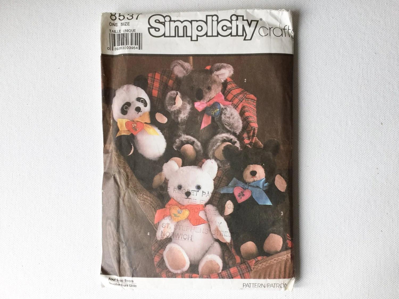 Pattern Polar Simplicity Vintage Bear