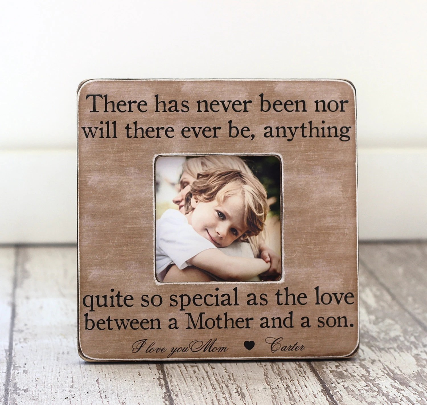 Mom T From Son Mother Son Personalized Picture Frame Mom Of