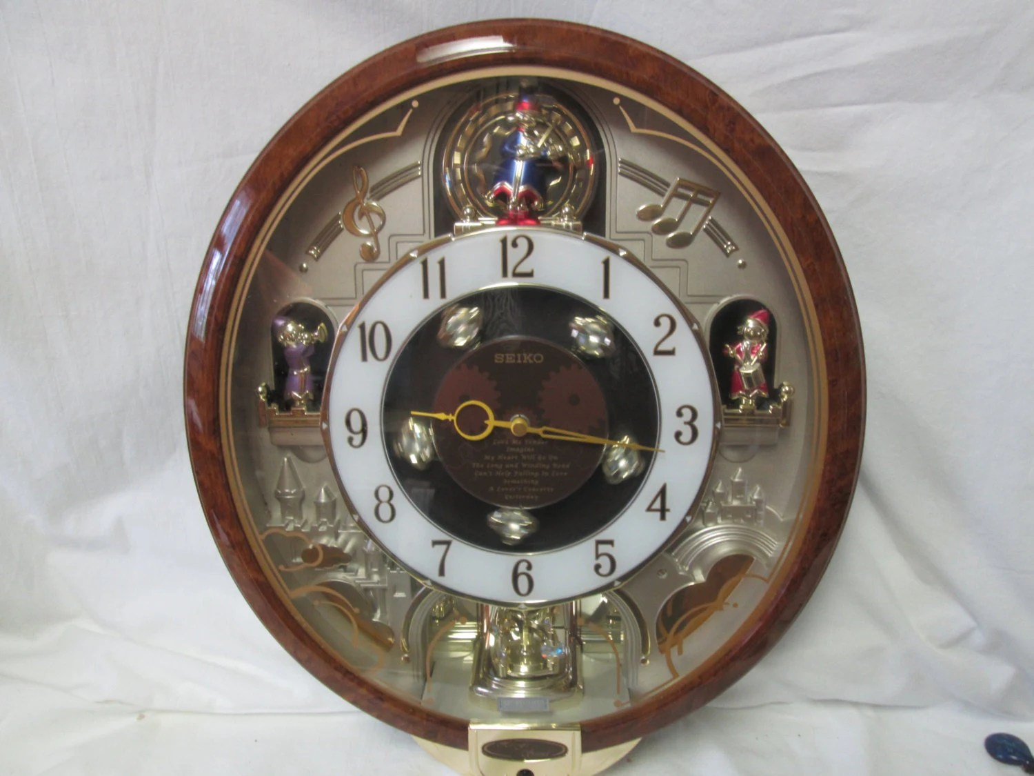 Seiko Vintage Melodies In Motion Musical Clock Plays Beatles